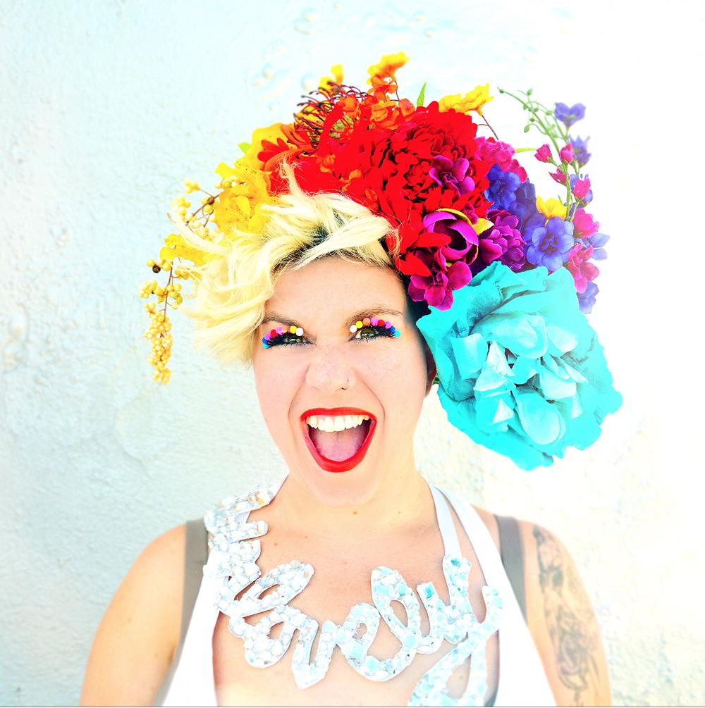 Jocelyn Mackenzie Promotional Photo   Headdress Design and Production // Eyelash Design and Production // Makeup // Necklace Design and Production   Photo by  Shervin Lainez