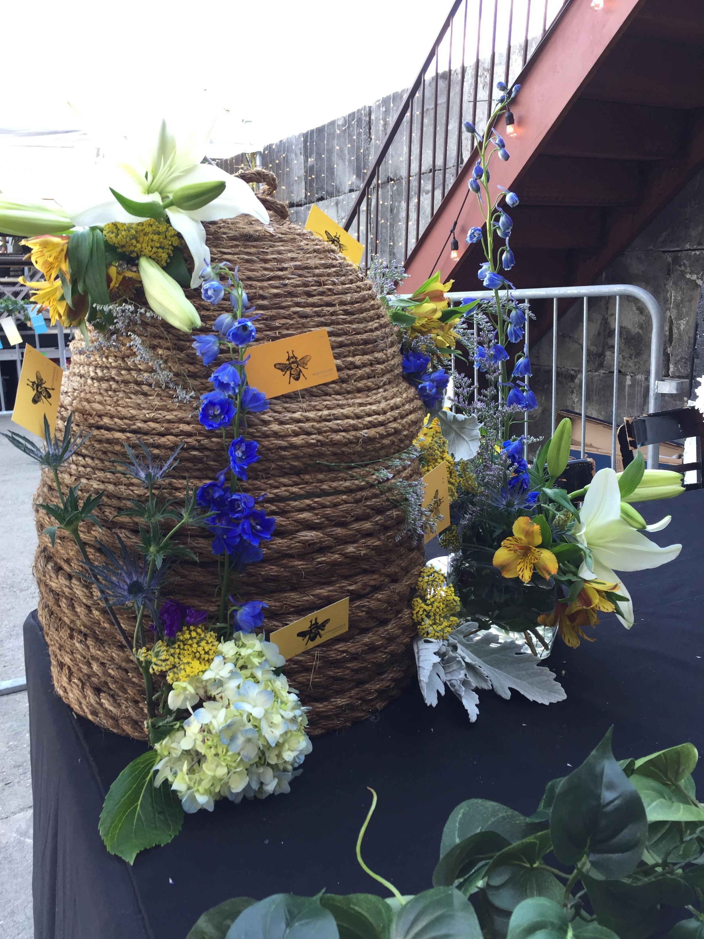 The Wild Honeypie // Northside Festival Event, The Beehive // 2017   Centerpiece design // Production // Floral arrangement