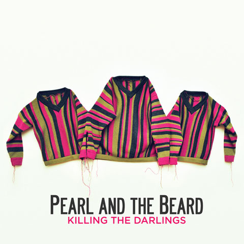 """Darlings Sweater // Pearl and the Beard """" Killing the Darlings """" Album Cover // Brooklyn, NY 2011   Garment Design and Production // Album Art Direction and Graphic Design"""