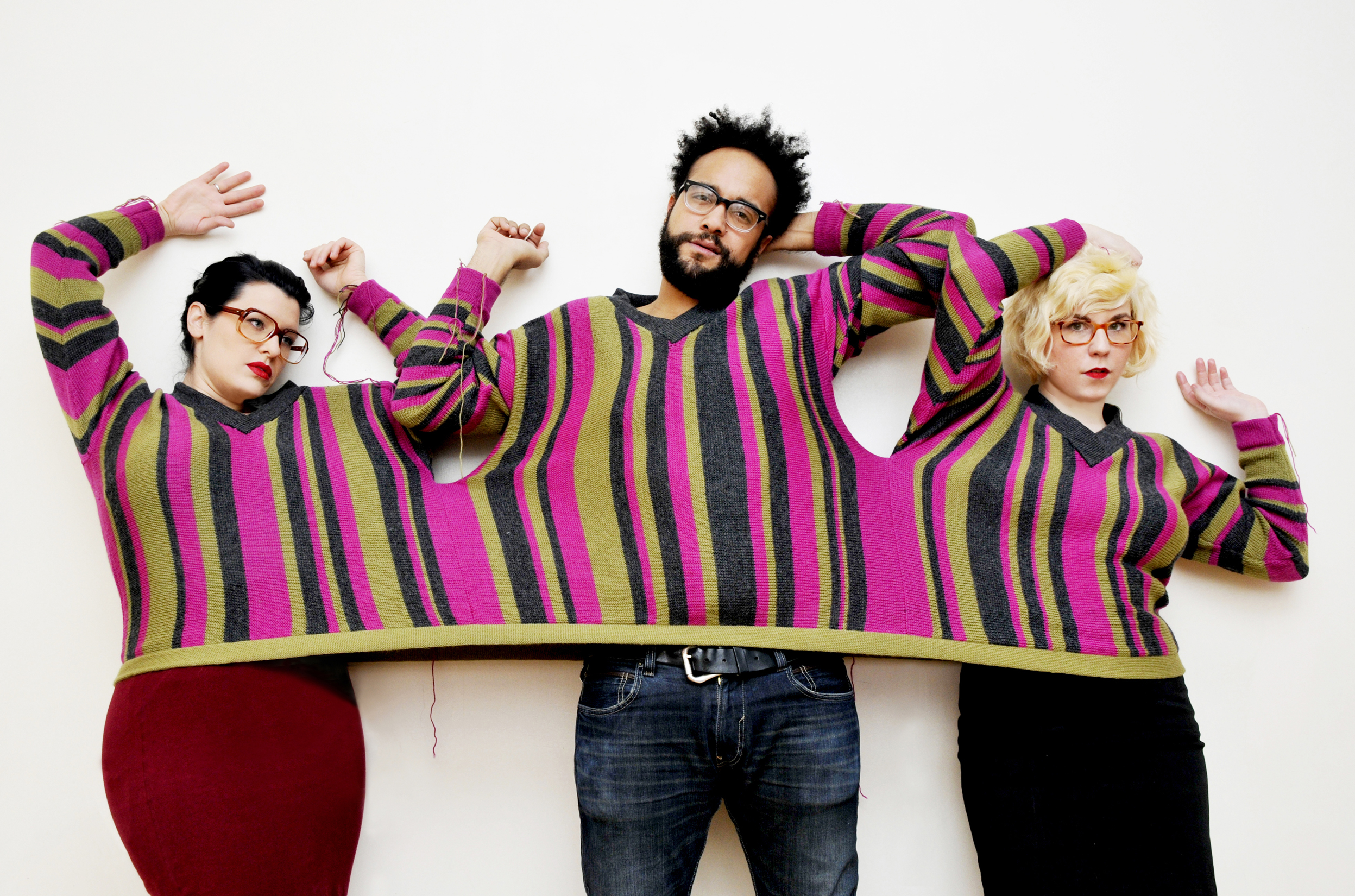 """Darlings Sweater // Pearl and the Beard """" Killing the Darlings """" Album Cover // Brooklyn, NY 2011   Garment Design and Production"""