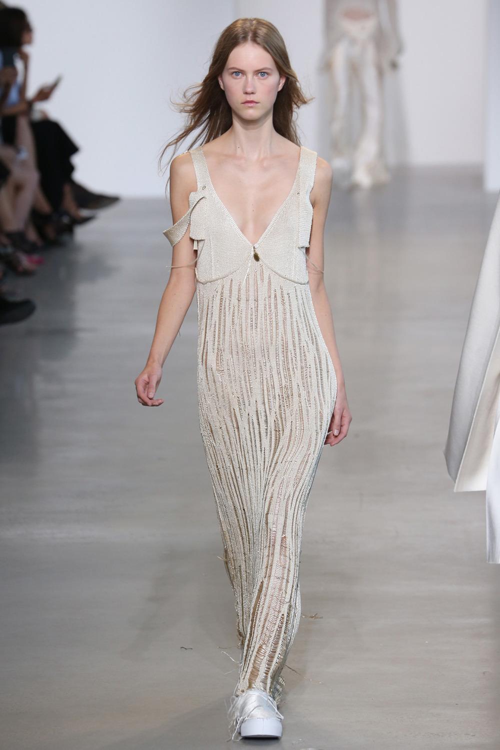 Machine Knit Dress // Calvin Klein Ready-To-Wear 2016 // Calvin Klein, NY, NY   Machine Knitting Production   Photo courtesy of  WWD