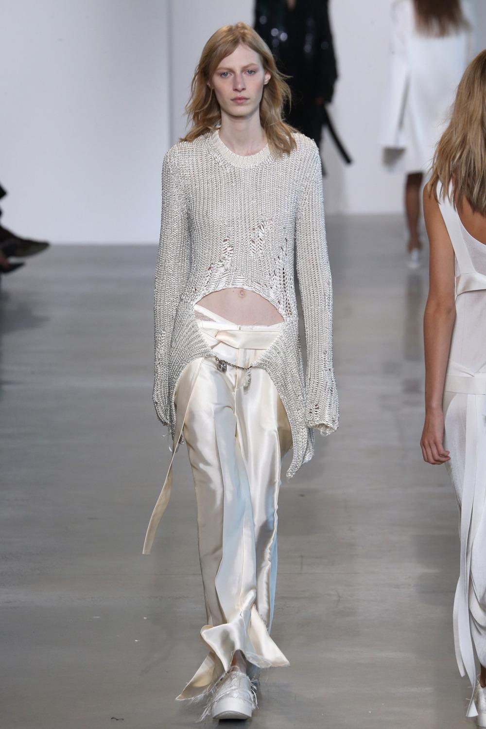 Machine Knit Jacket // Calvin Klein Ready-To-Wear 2016 // NY, NY   Machine Knitting Production   Photo courtesy of  WWD