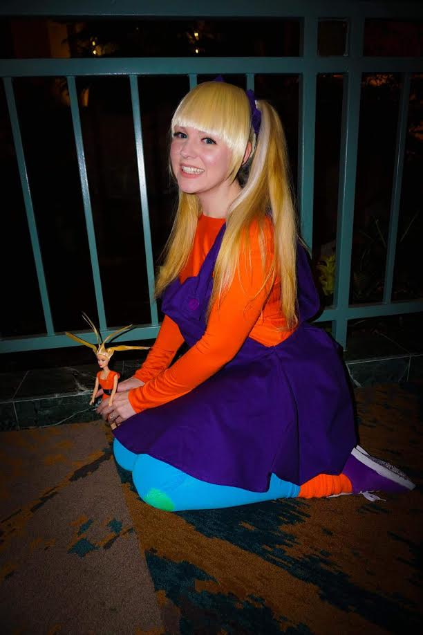 "Angelica Pickles- Rugrats  I DON'T WANNA DO THIS I WANNA EAT COOKIES!!! Oh, sorry...She is VERY easy to get into character with! Angelica was my ""I'm a 90's kid"" cosplay and was a VERY easy choice. Not only did I make her 100% (the leggings and shoes were painted by me and the socks were from when I was in 5th grade!) but one of my Drag Queen Idols Phi Phi O'hara knew of me by this cosplay. Angelica is one of my shining stars of my cosplay closet! Especially since I get to eat cookies the whole con and I've been known to stop places and lay on the ground to color. Seriously she's easy for me to play up!  Photo by John Penta with C&C Media Designs:   www.facebook.com/CCMEDIADESIGN1"