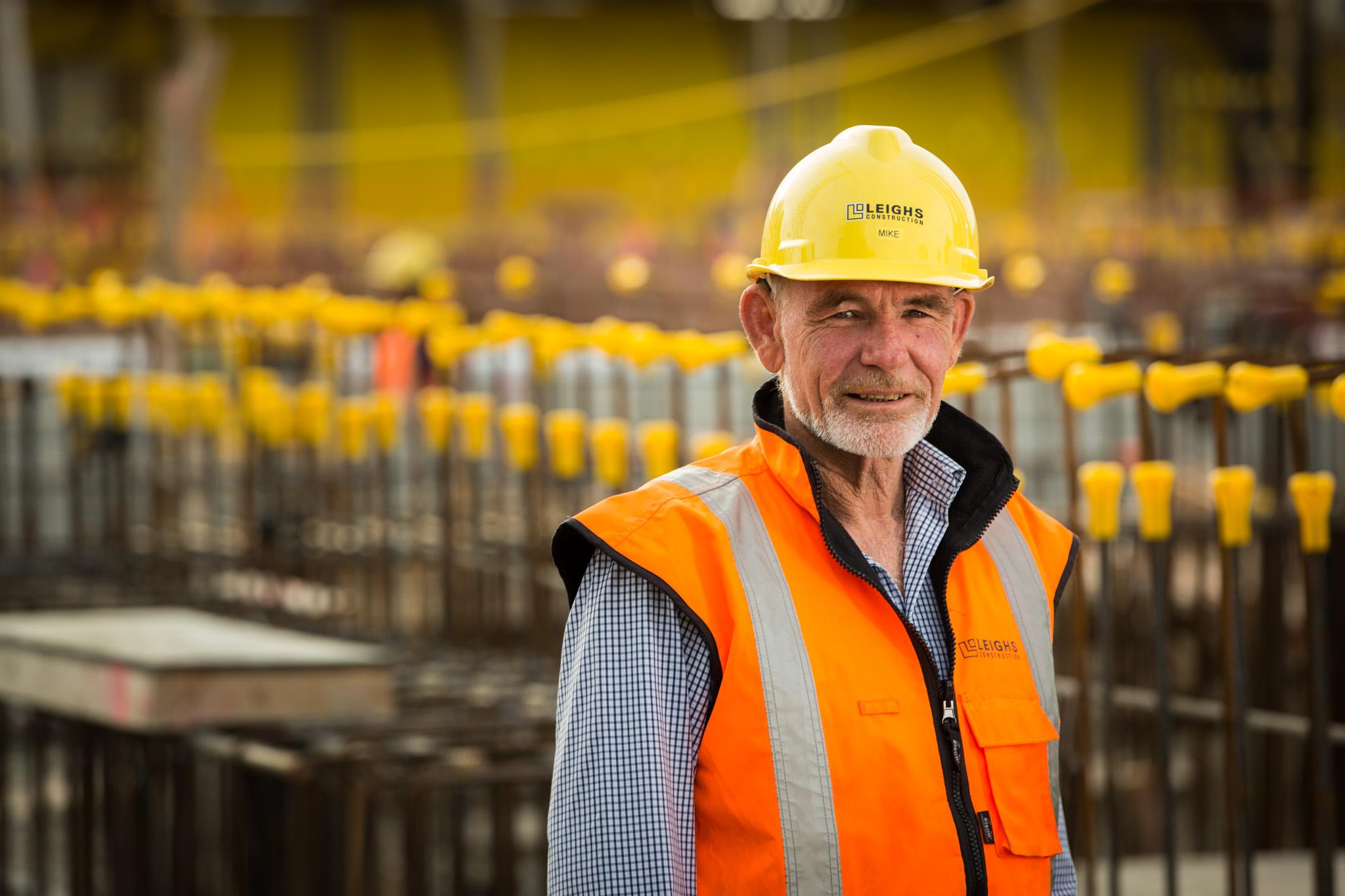 Portrait of construction worker on site