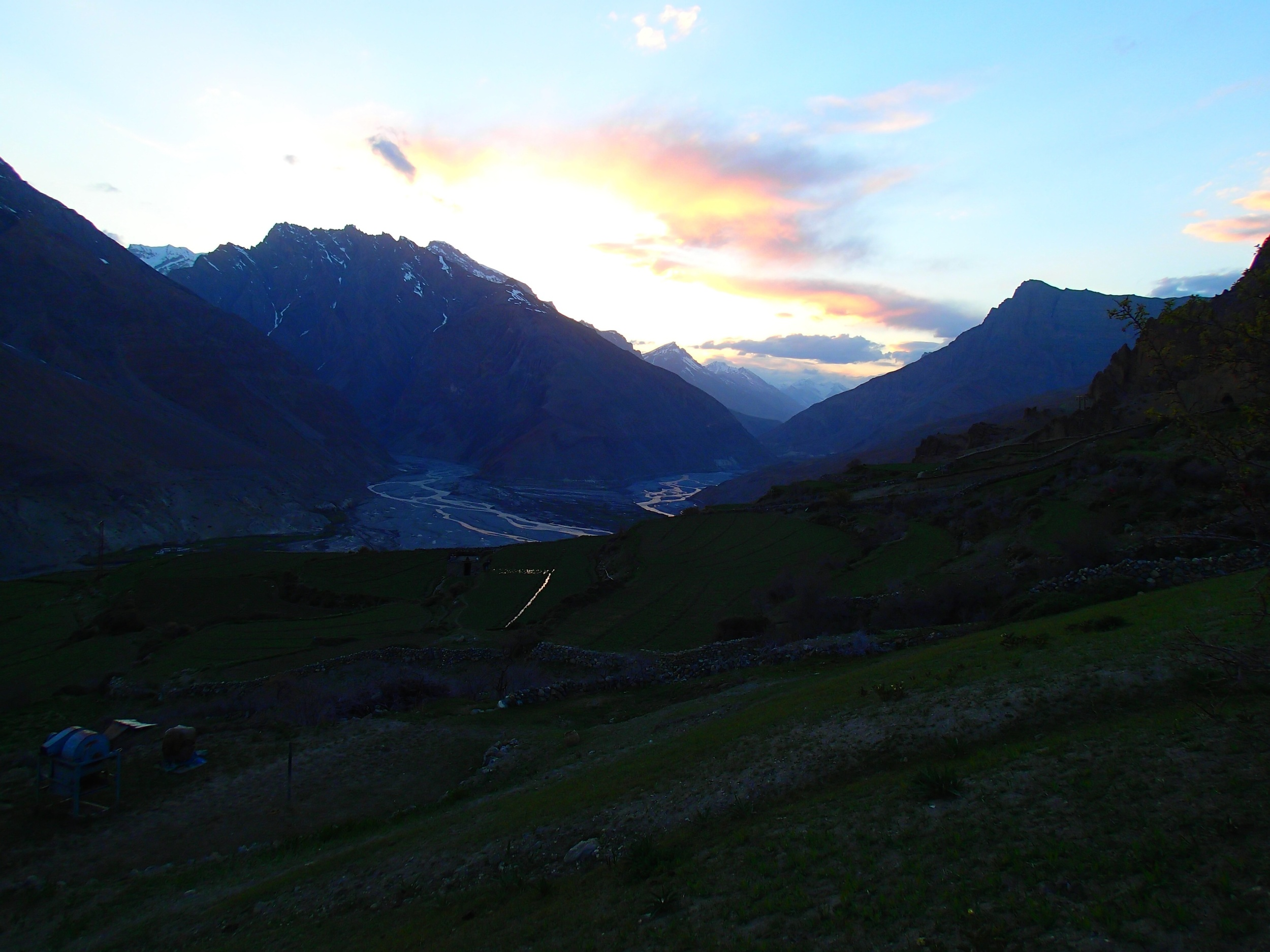 A stunning sunset from the trek up to Dhankar