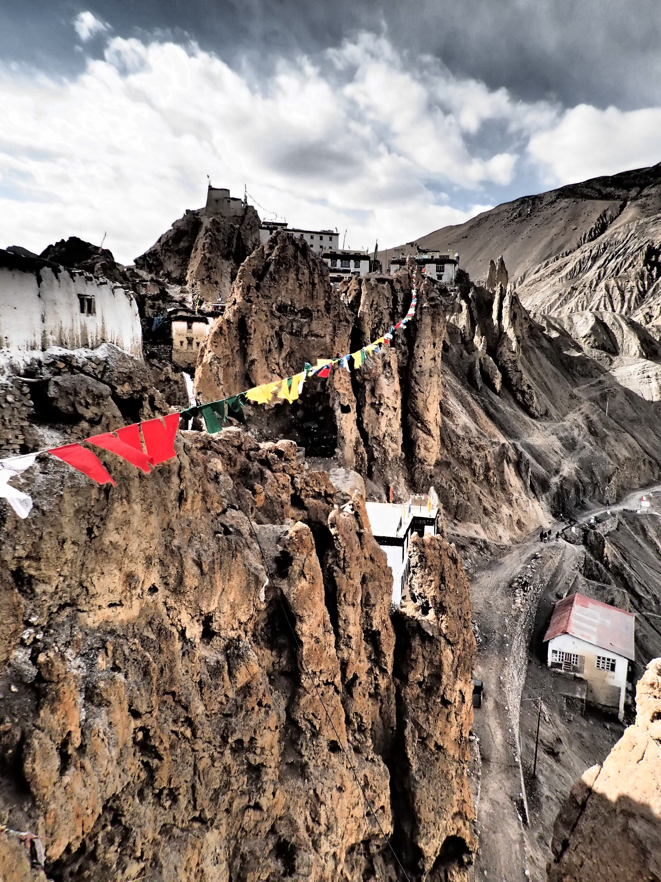 Stunning Dhankar, city perched on a rock