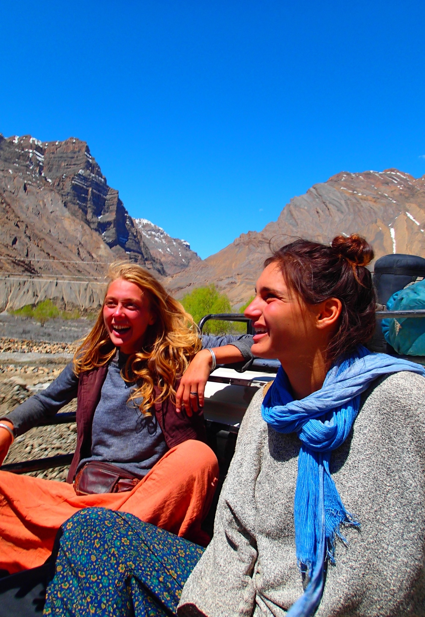 Hitching a ride to Kaza, a much more pleasant alternative to the bus