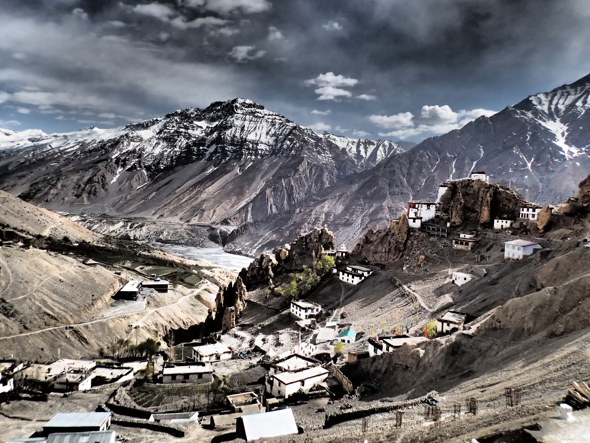 View of Dhankar from above