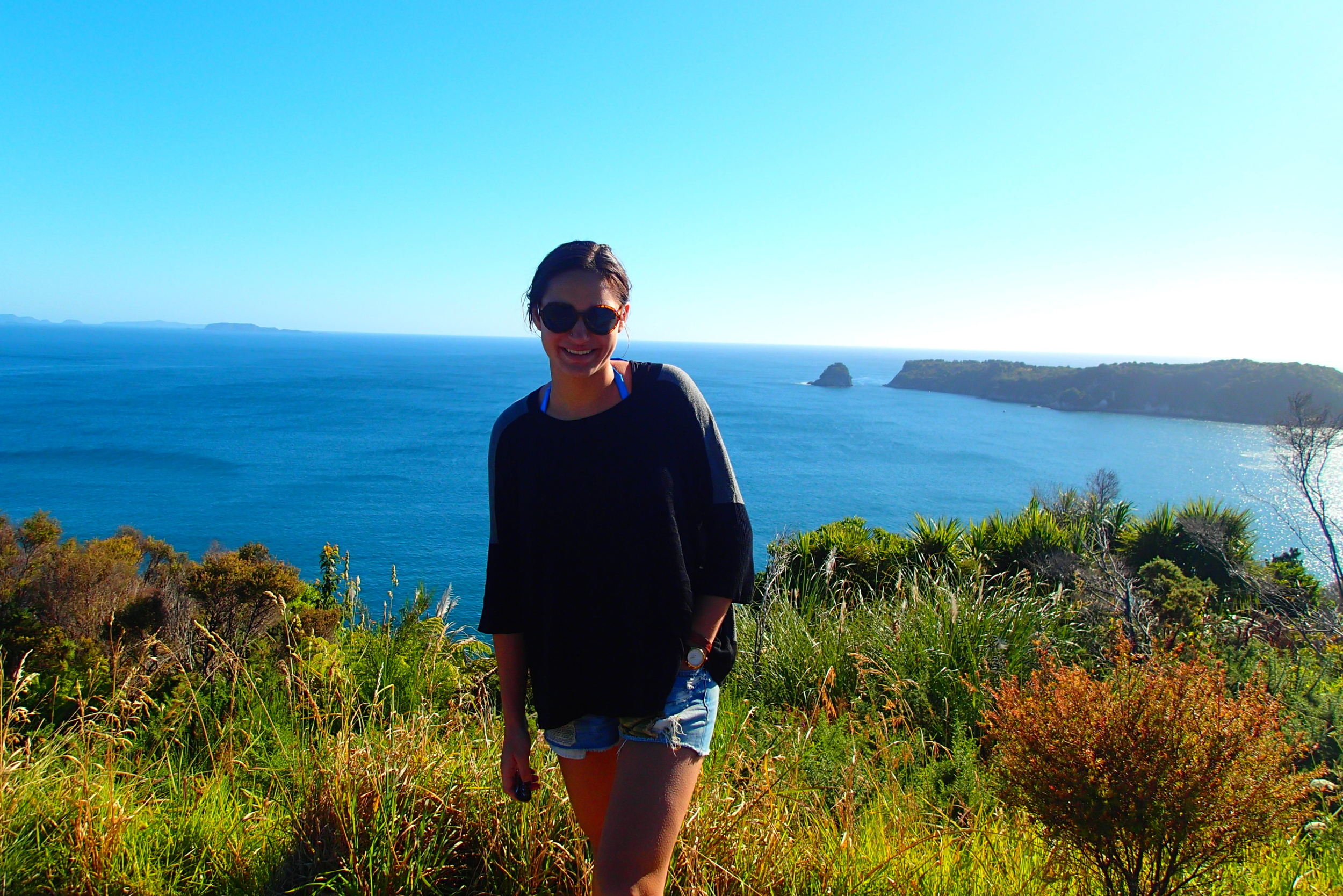 Soaking up the sun! Coromandel Peninsula, Northern Island