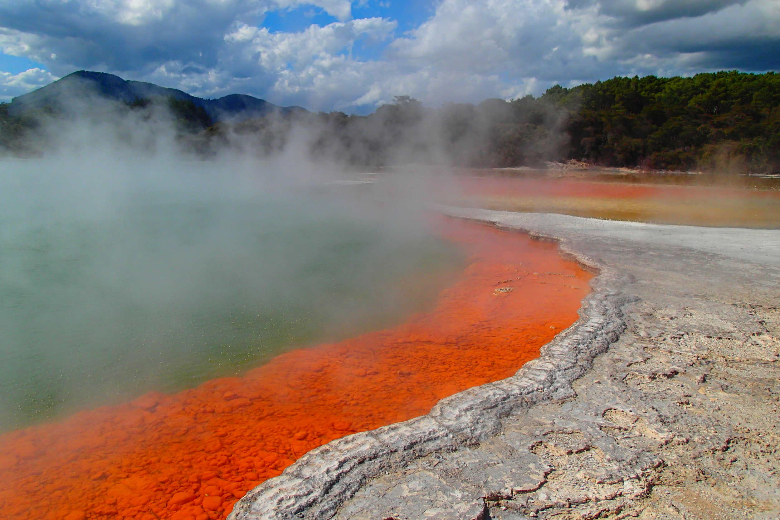 Hot springs, hot colors