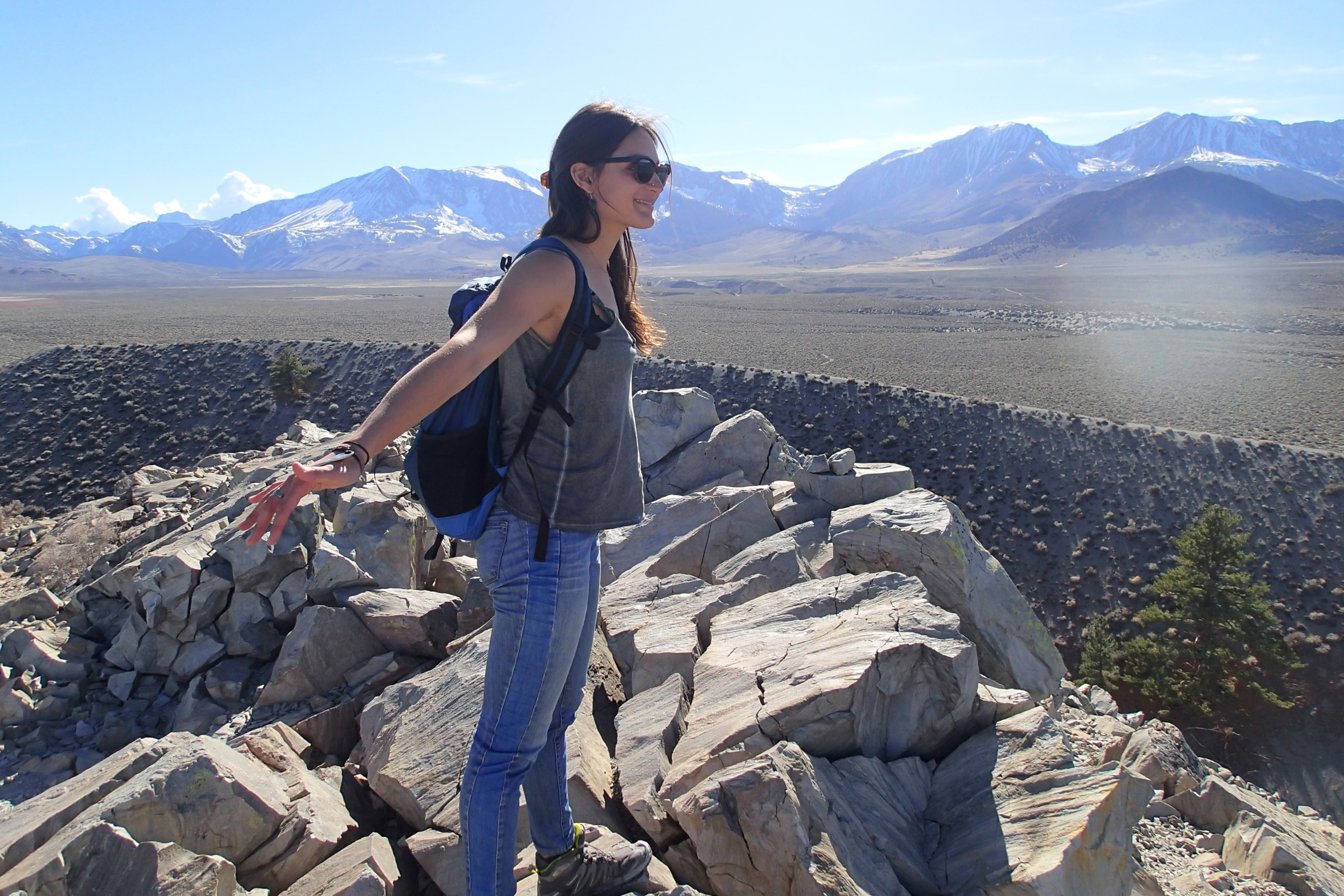 Panum crater. Above mono lake, soaking it all in.