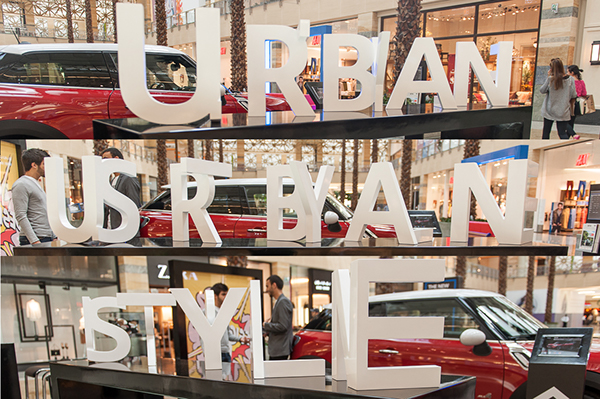Urban styleinstallation - A 3D Cutout installation that allows viewers to read read two words at the same time just by changing perspective