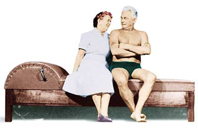 "Joseph Pilates with wife Clara.   ""Every Body benefits from Pilates"""