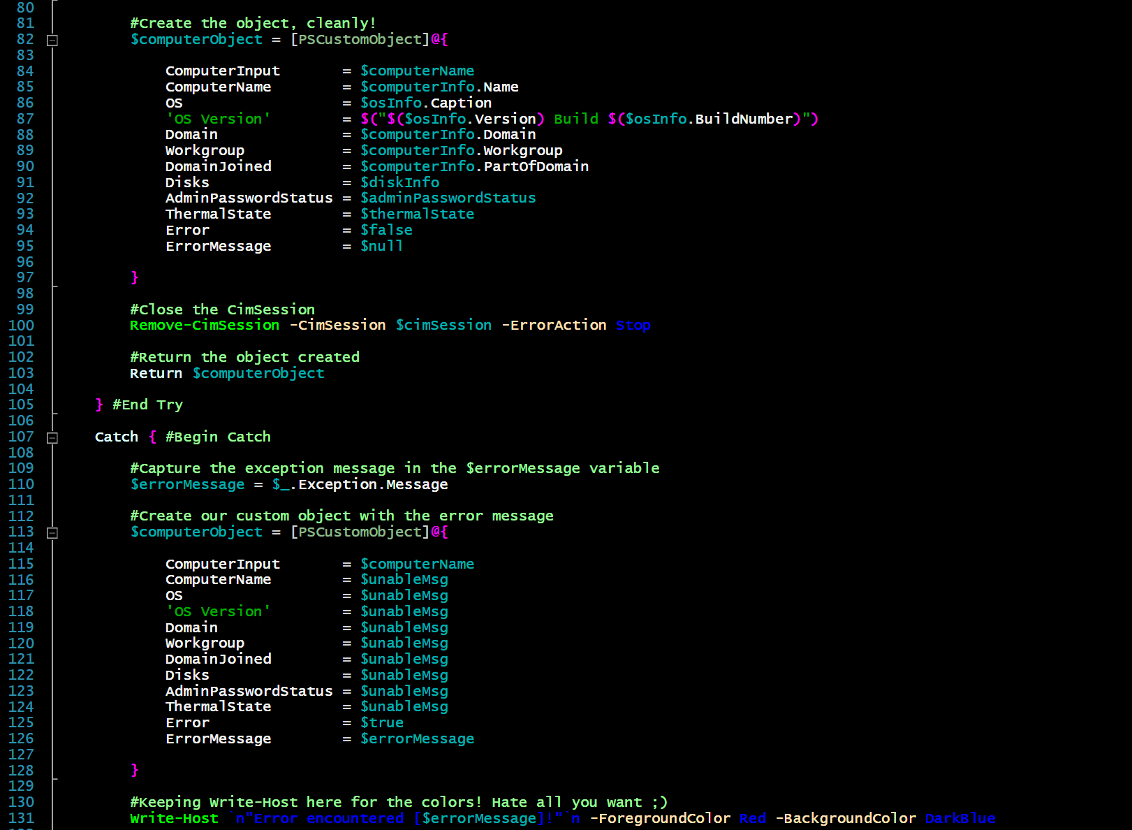PowerShell Getting Started   Creating Custom Objects — The Ginger ...