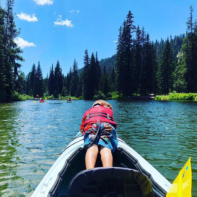 We have discovered a new passion. I didn't think the little ones would enjoy kayaking. Not only did they enjoy it, but they were really good!!! #kayak #mccallidaho #adventureoutside #payettelake #twomomsquad #travel #reallife #camplife #rvlife