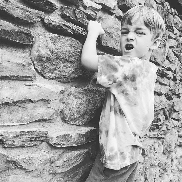 Pretending to climb a rock wall like Spider-Man 😂 #mccallidaho #sillykids #wildandfree