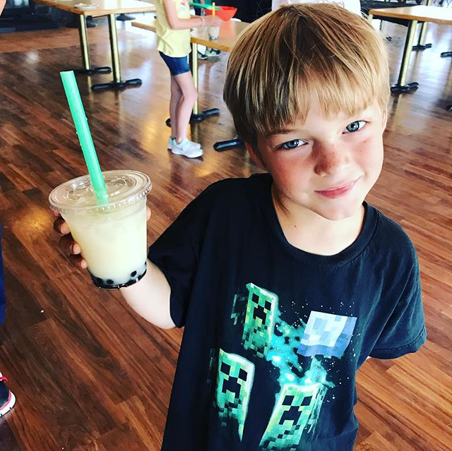 New school year pics! 😂 we start this year at the Fulltime Family Rally in Bend, OR by learning how to make Boba balls and Boba Tea! #homeschoollife #rvlife @fulltimefamilies #thousandtrails #homeschool #prek #firstgrade #fifthgrade #seventhgrade #rvlife #camplife #sodirty #dirtykidshealthykids