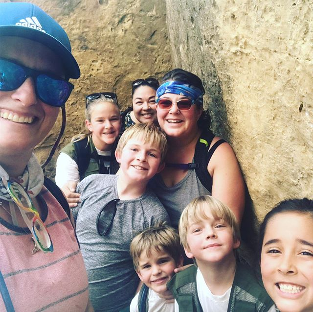 This crazy crew did the Cliff Palace at Mesa Verde National Park. It was so cool and amazing!  Totally on my bucket list. We even climbed out in the middle of a hail storm. 😯😬🤪 #findyourpark #mesaverde #mesaverdenationalpark #cortezco #colorado #travellife #rvlifewithkids