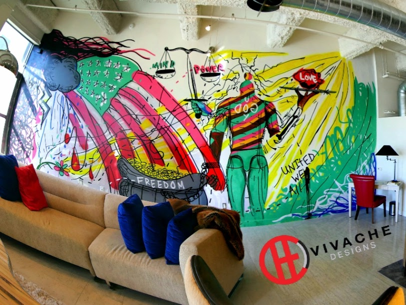 Mural Painting Los Angeles Vivache Designs 100% Proven Mural Painter