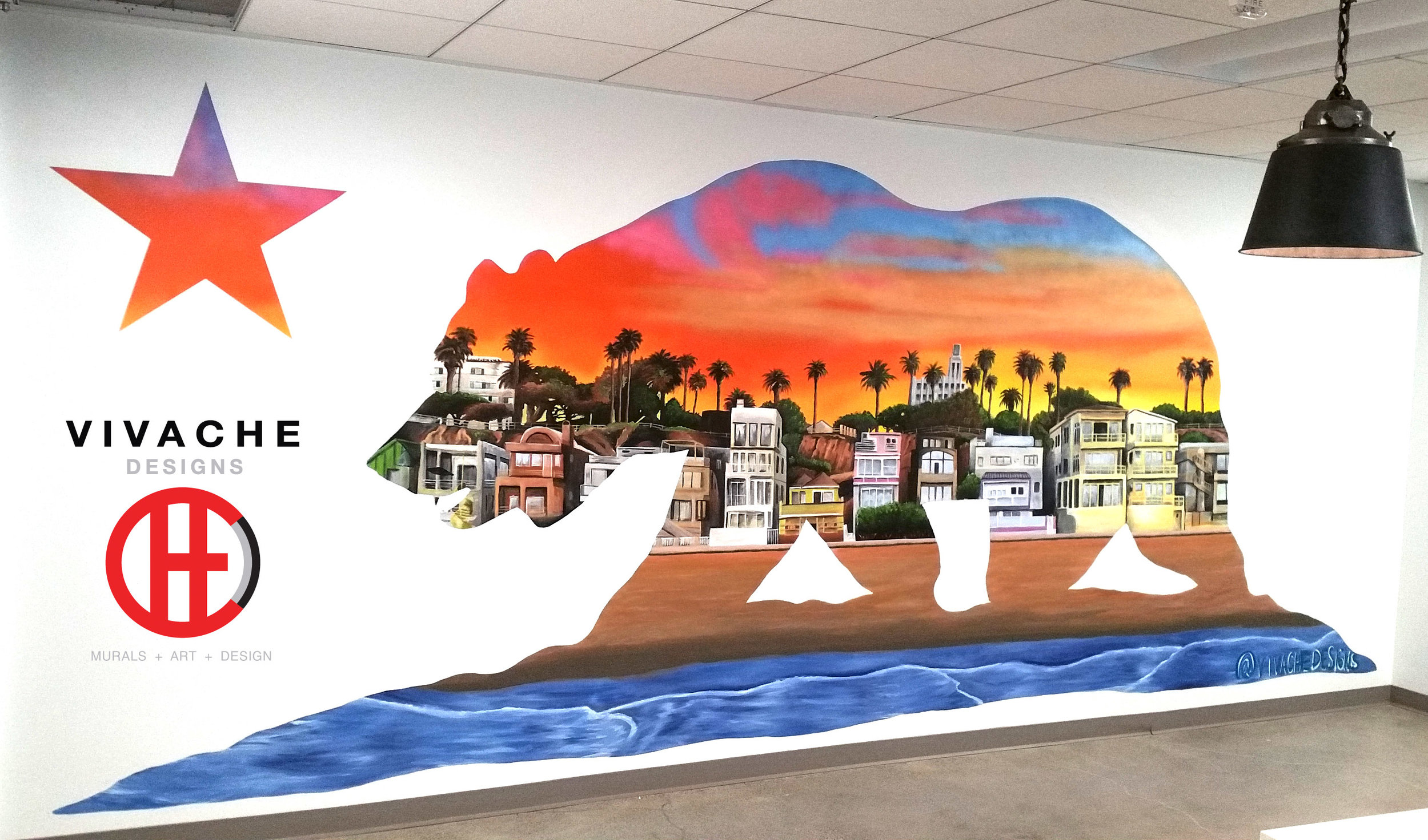 Need to hire a trusted mural painter? Vivache Designs are your 100% proven mural painters. Our mural painting skills are vast as the universe and can capture all audiences and viewing eyes. Give us a call for your free quote today 1-866-VIVACHE. We look forward to hearing more about your mural painting project.