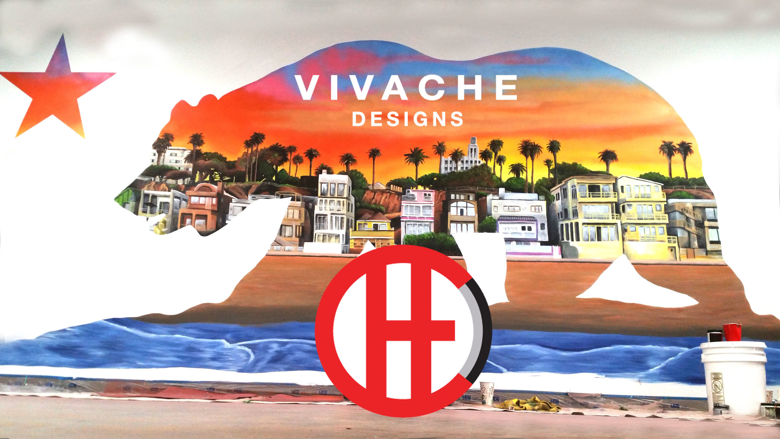 Mural Painter Vivache Designs' custom mural painting. We are your trusted mural painters. Give us a call for your free quote 1-866-VIVACHE now. We look forward to hearing more about your mural painting project.