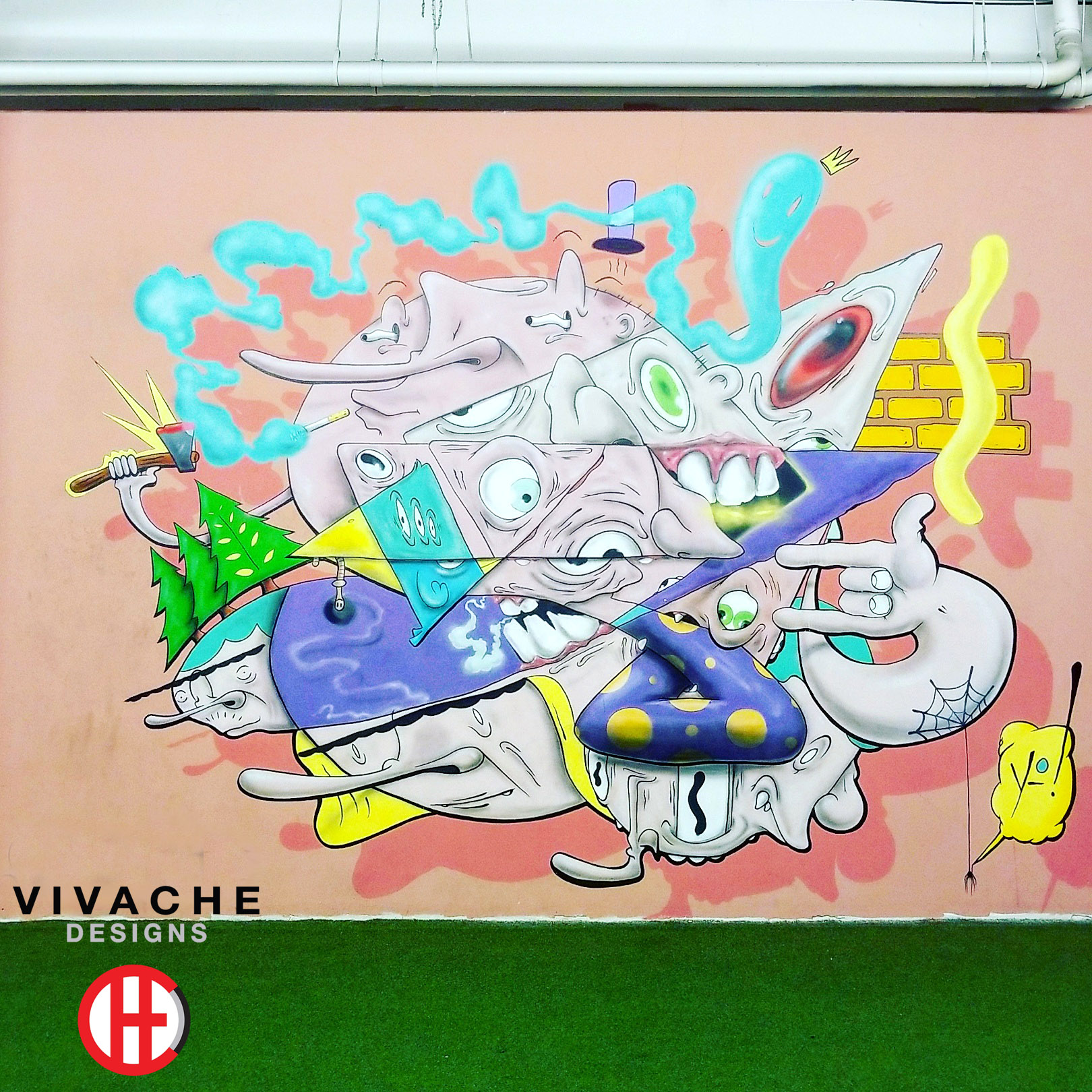 Mural Painter Vivache Designs Wall Mural Art Gallery LA Art District Mural Painting.jpg