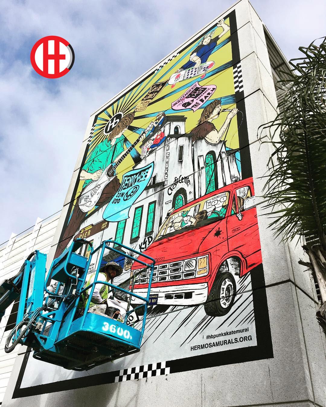 Mural Painters Vivache Designs Paint Punk Rock Mural