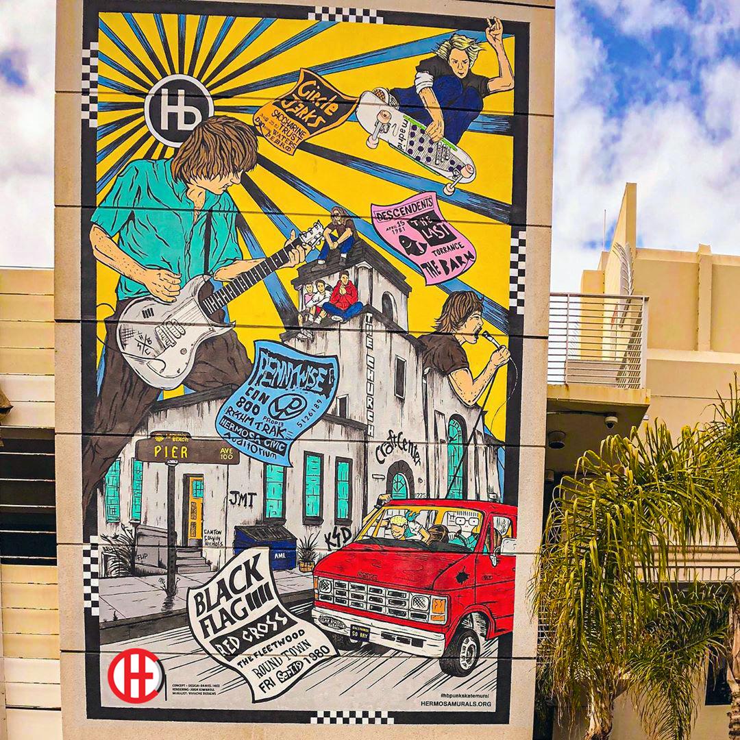 Vivache Designs Hermosa Beach Murals Project #8 Mural Painter Mural Artist Muralist Wall Mural Painting Los Angeles Murals LA.jpg