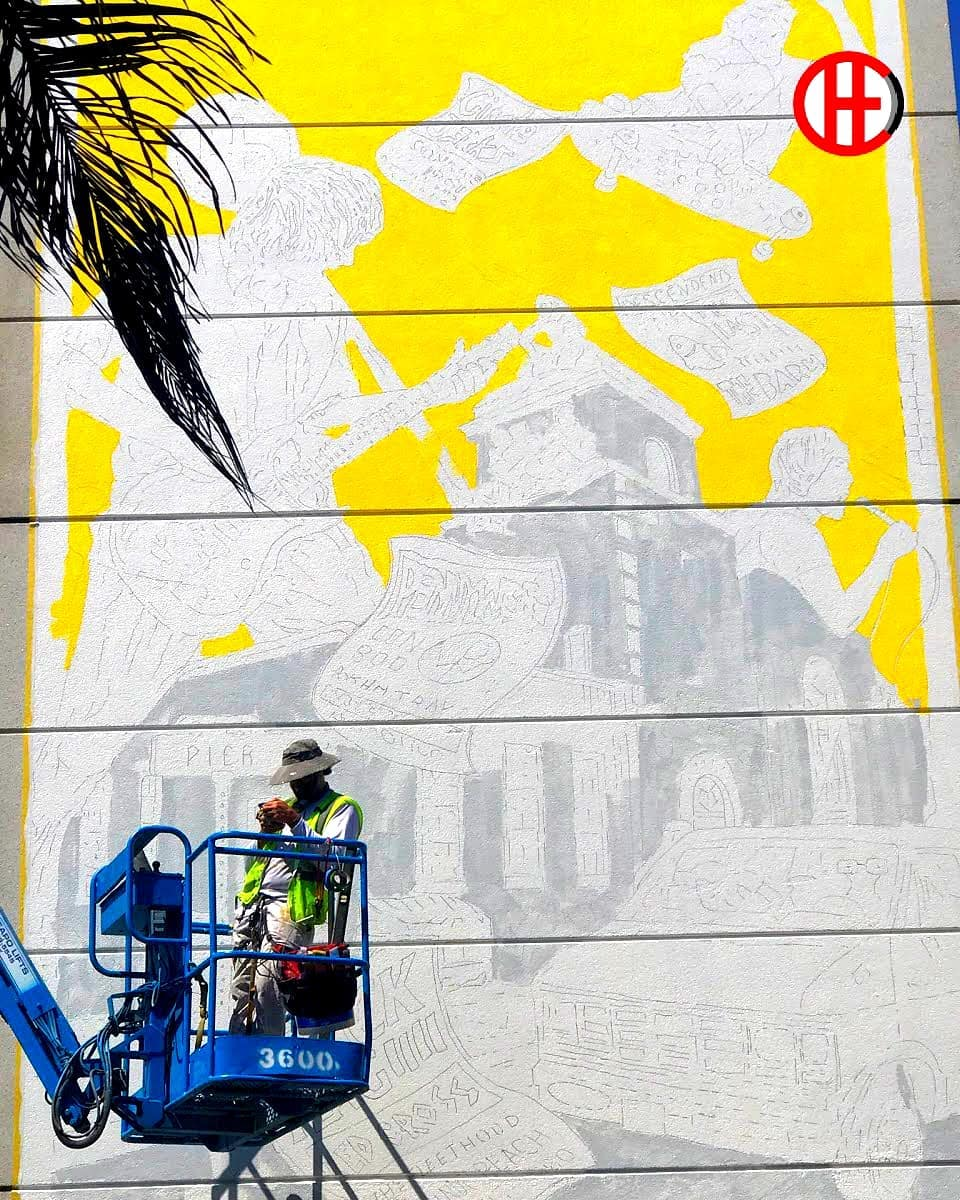 Vivache Designs Mural Painter Paints Hermosa Beach Punk Rock Skate Mural.jpg