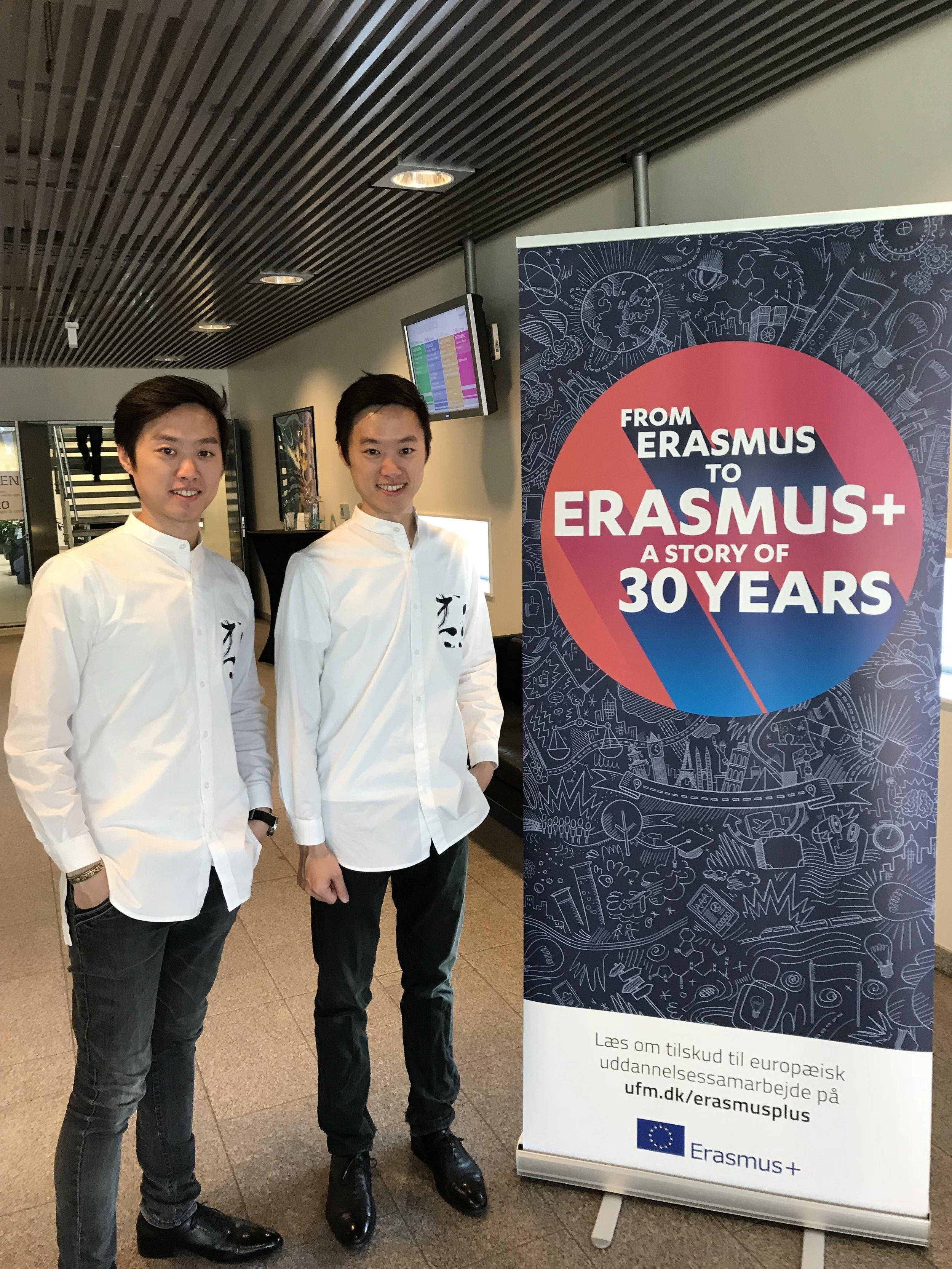 Erasmus 30th Anniversary with Banner