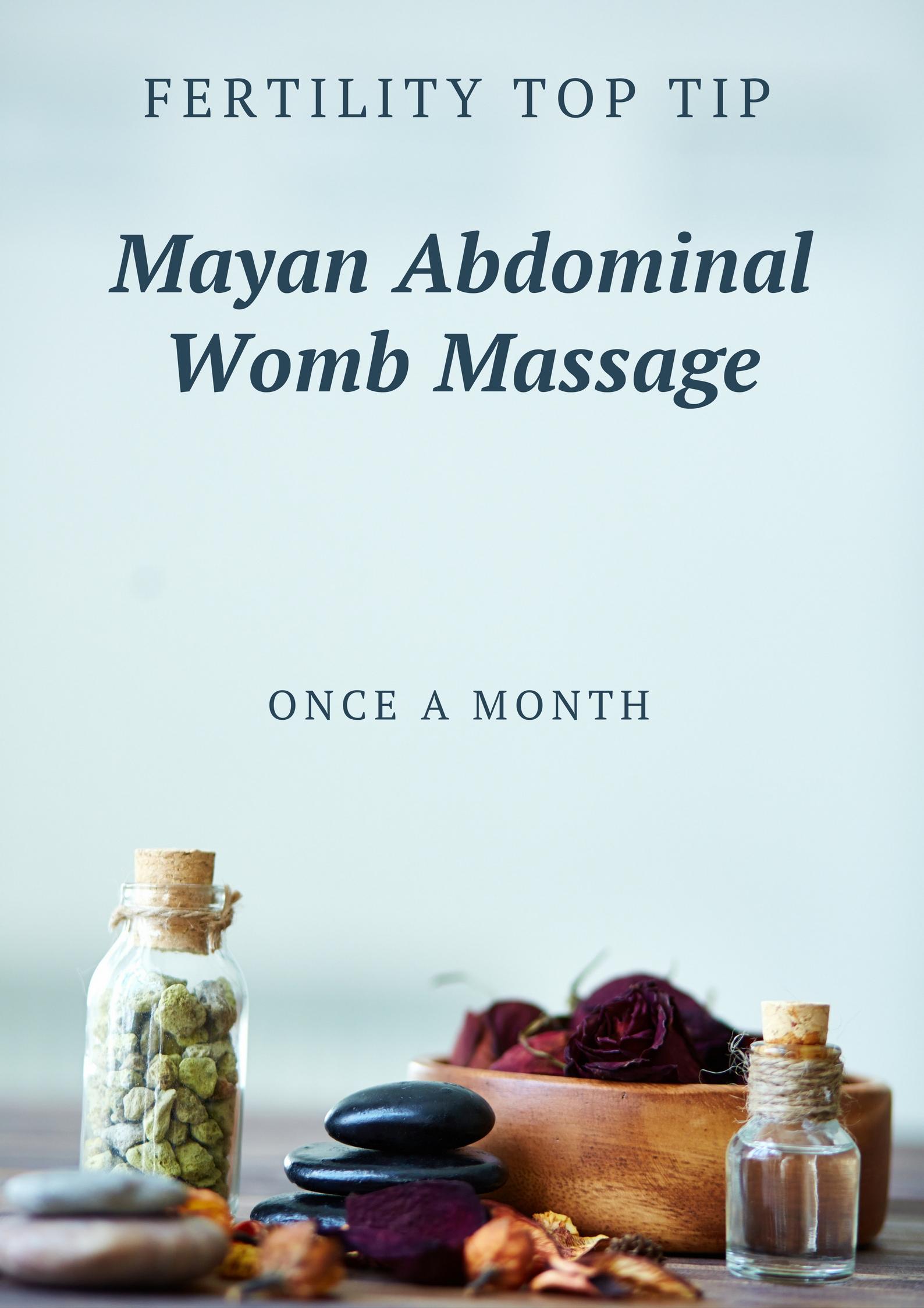 Mayan womb massage for fertility