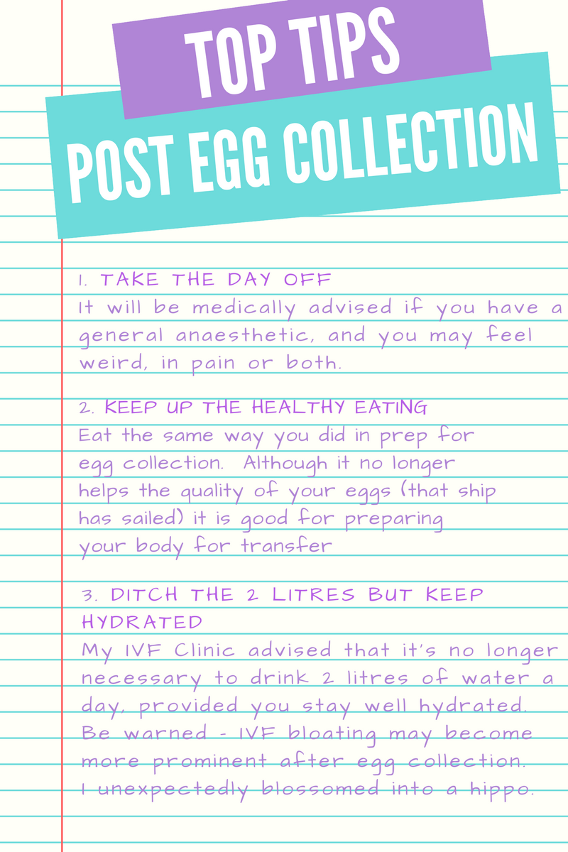 Top tips for IVF egg collection recovery