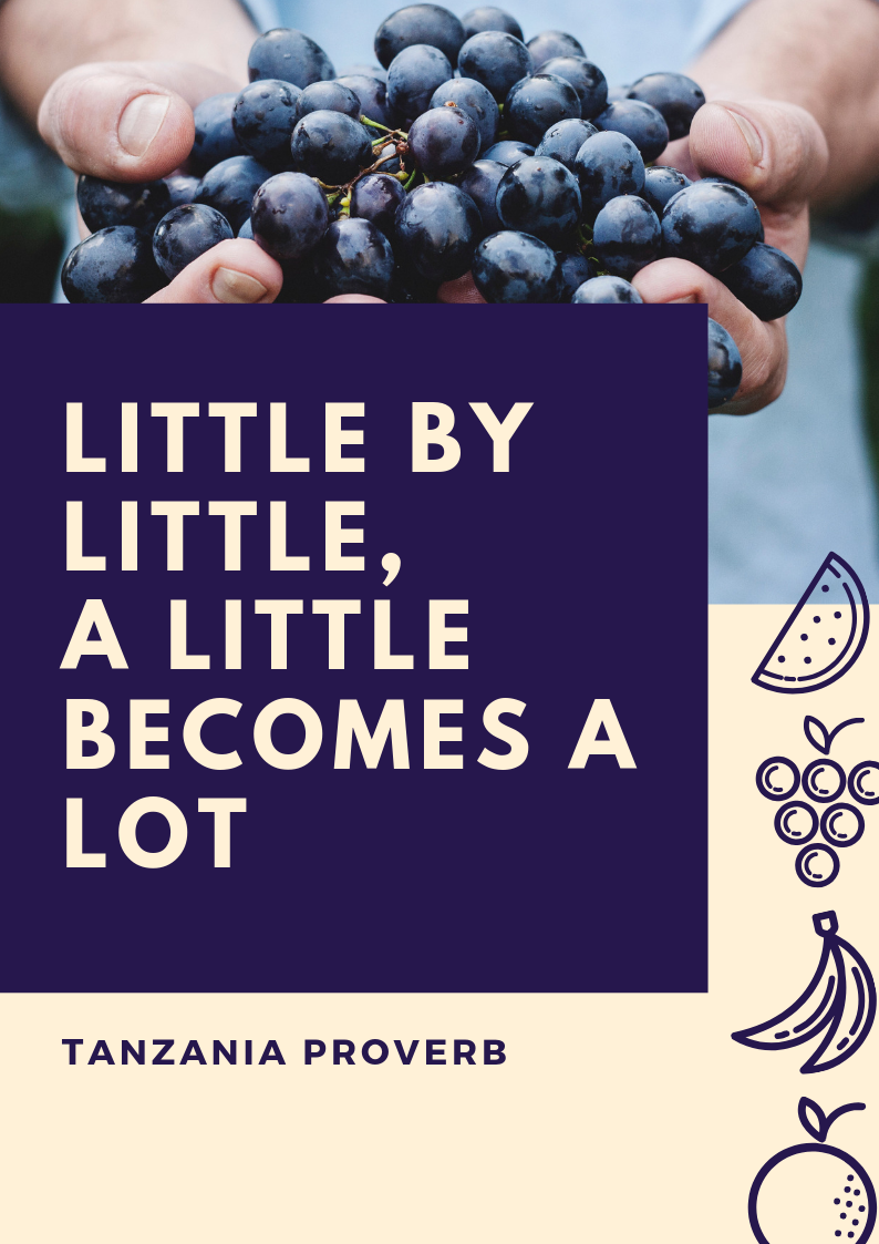 Little by little a little becomes a lot - motivational quote for infertility
