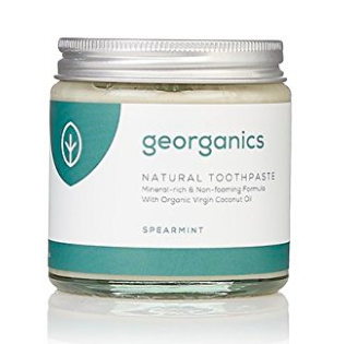 Georganics natural toothpaste - best chemical free beauty products for fertility