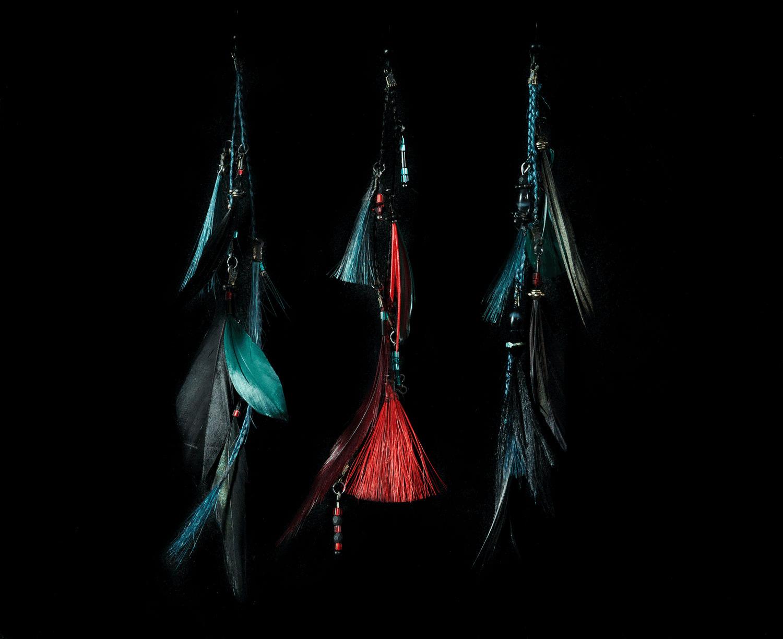 Accessoires cheveux en plûmes collection 2011 de John Nollet -Photo et accessoires réalisés par Bilitis poirier.