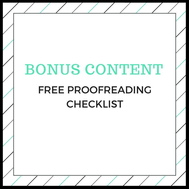 Call to action for free proofreading checklist