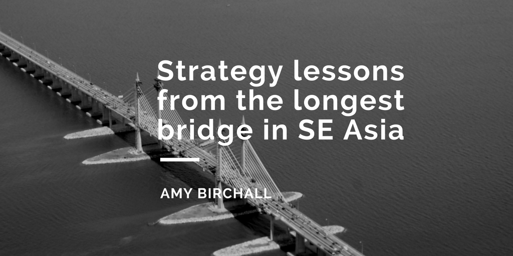 header image - content strategy lessons from Penang Bridge