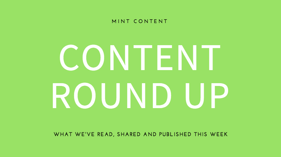 Mint Content weekly content writing wrap