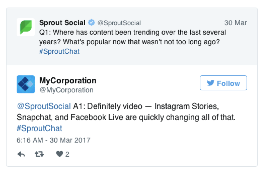 Sprout Social twitter user generated content