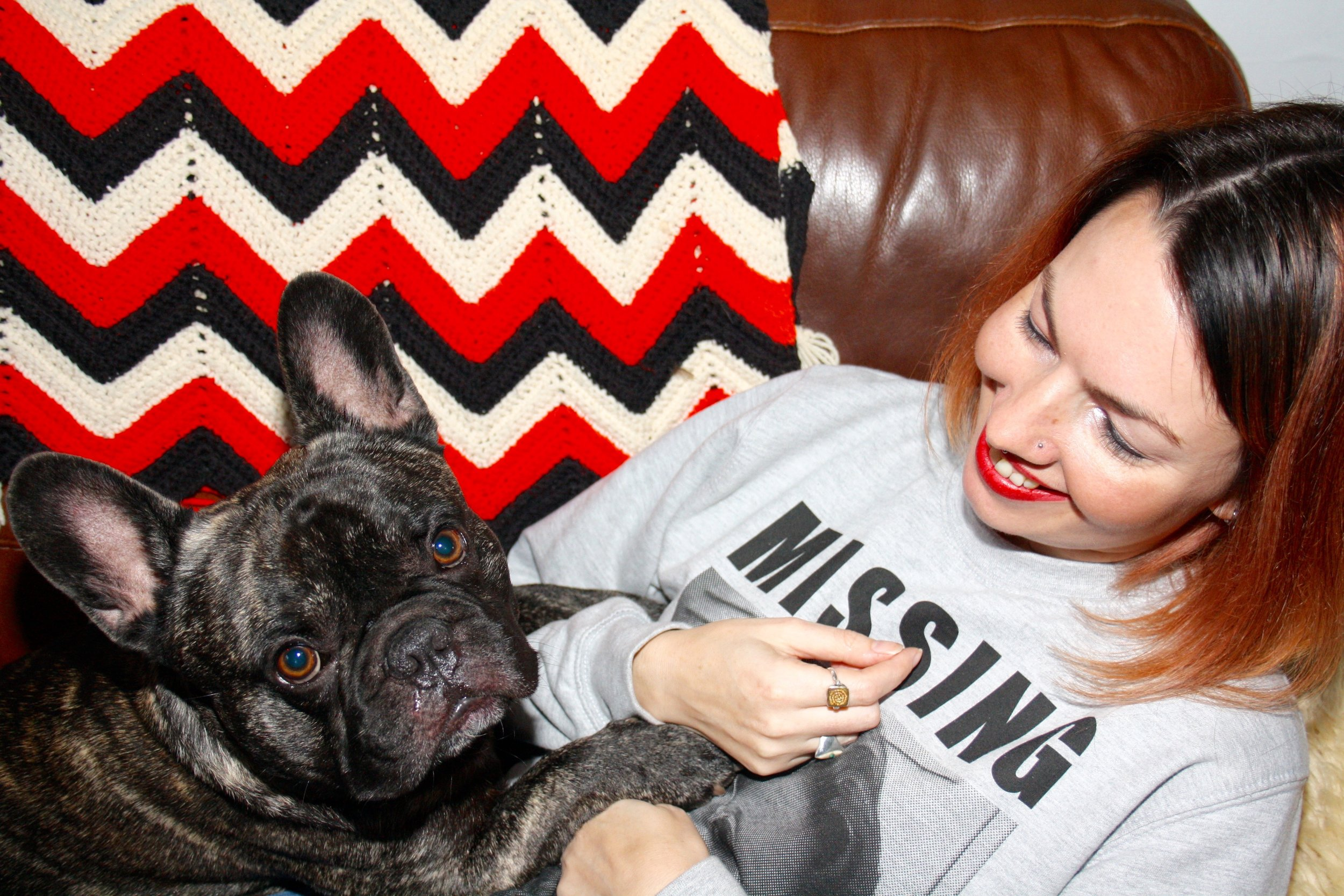 Rachel and Clive the French Bulldog