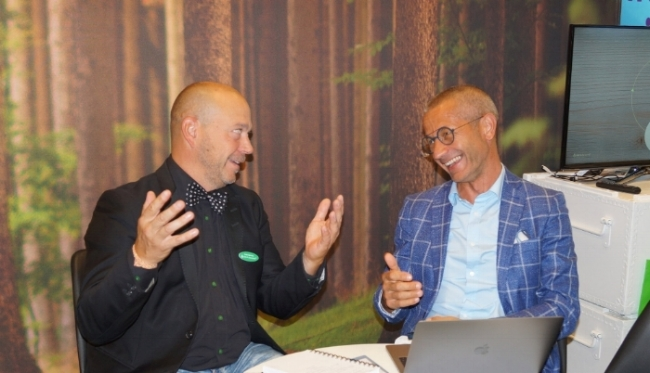 Peder Björkman, Alent och Luca Cadamuro, OS Panto gläds övers nya affärer på supertorkar.