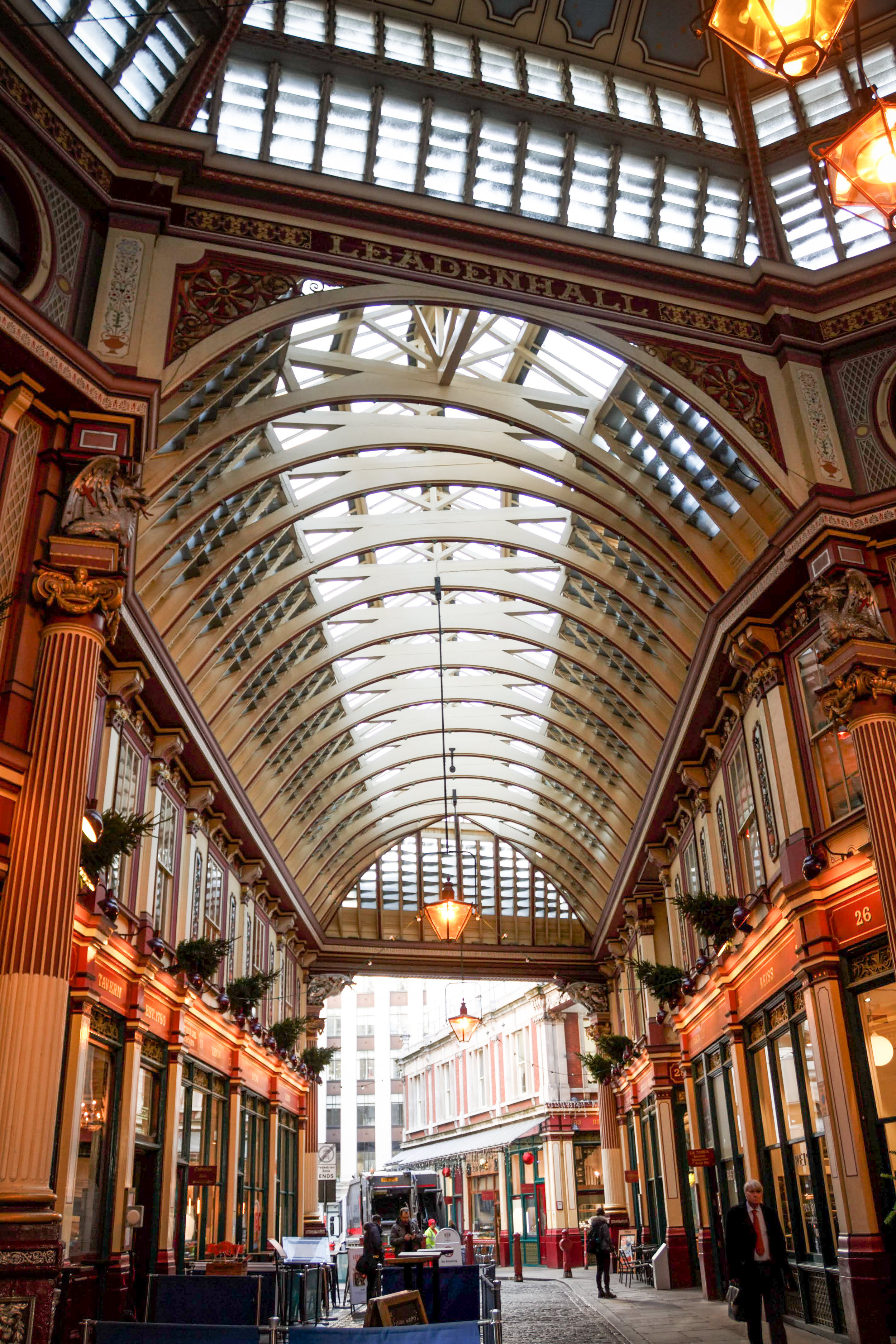 Leadenhall Market, getting ready for Christmastime