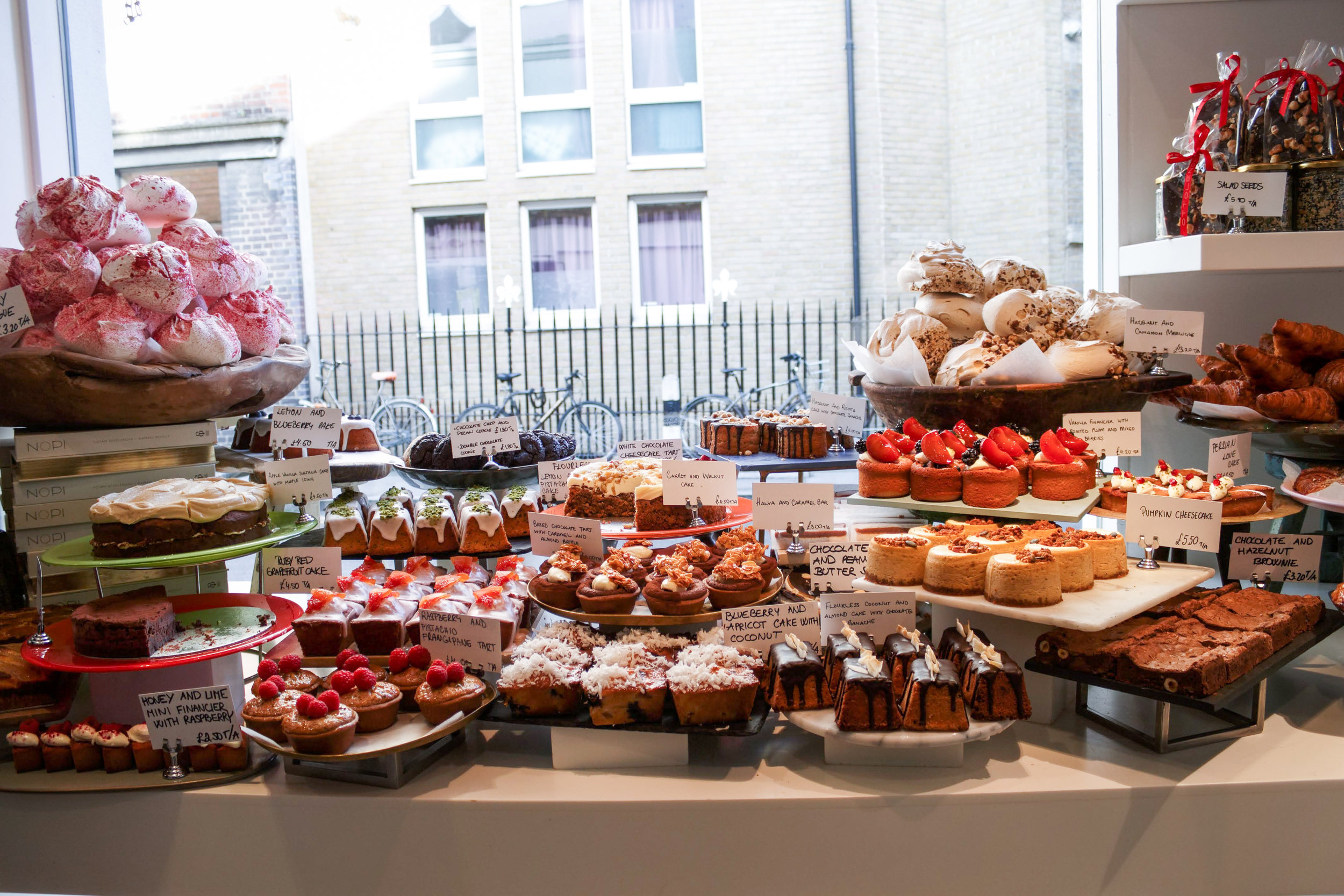 The dessert spread at Ottolenghi Spitalfields