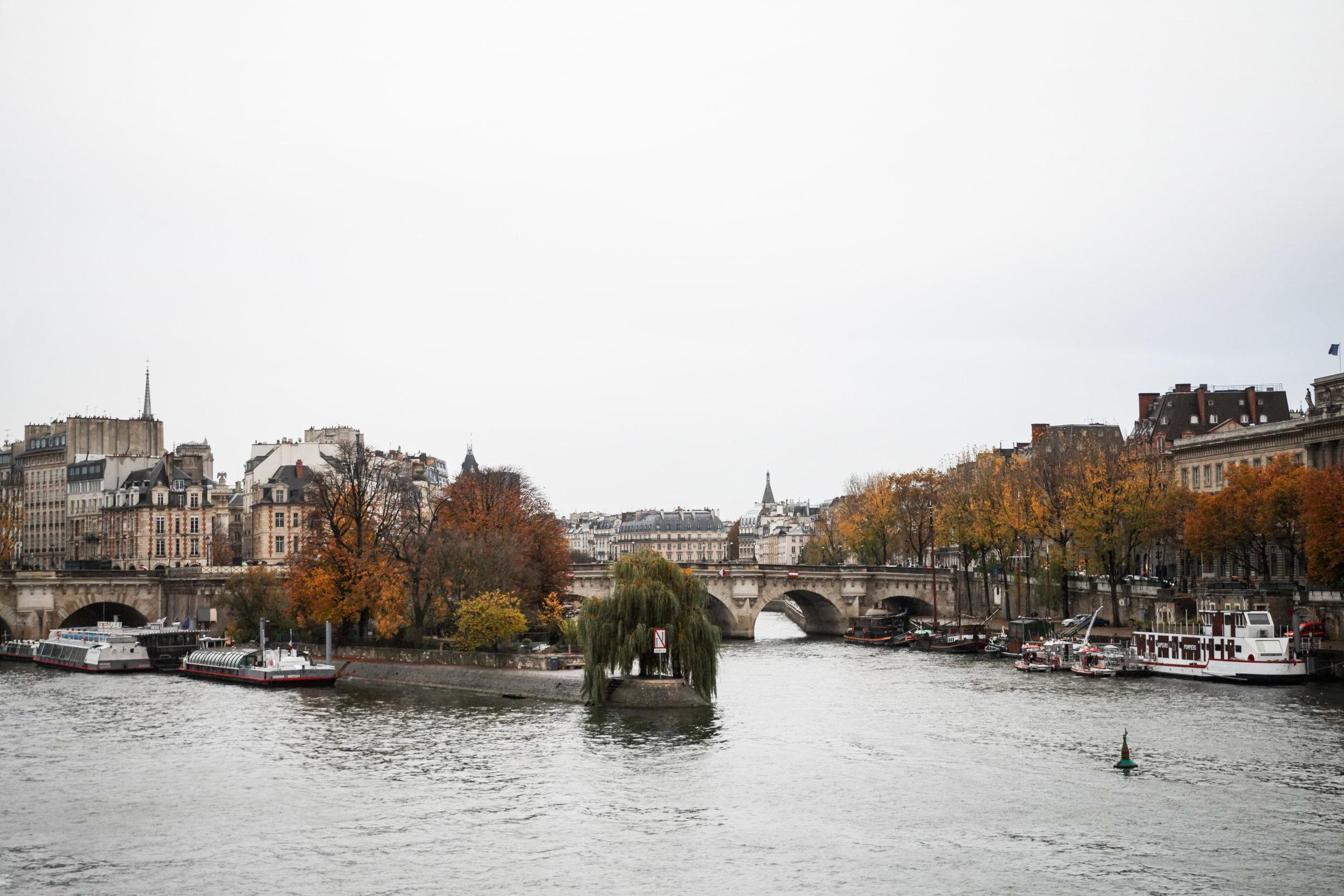 Views along the Seine  Below, left: charcuterie from Caractere de Cochon