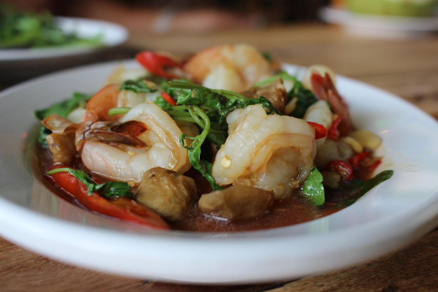 Thai Basil Shrimp - Pad Kra Pao Gai