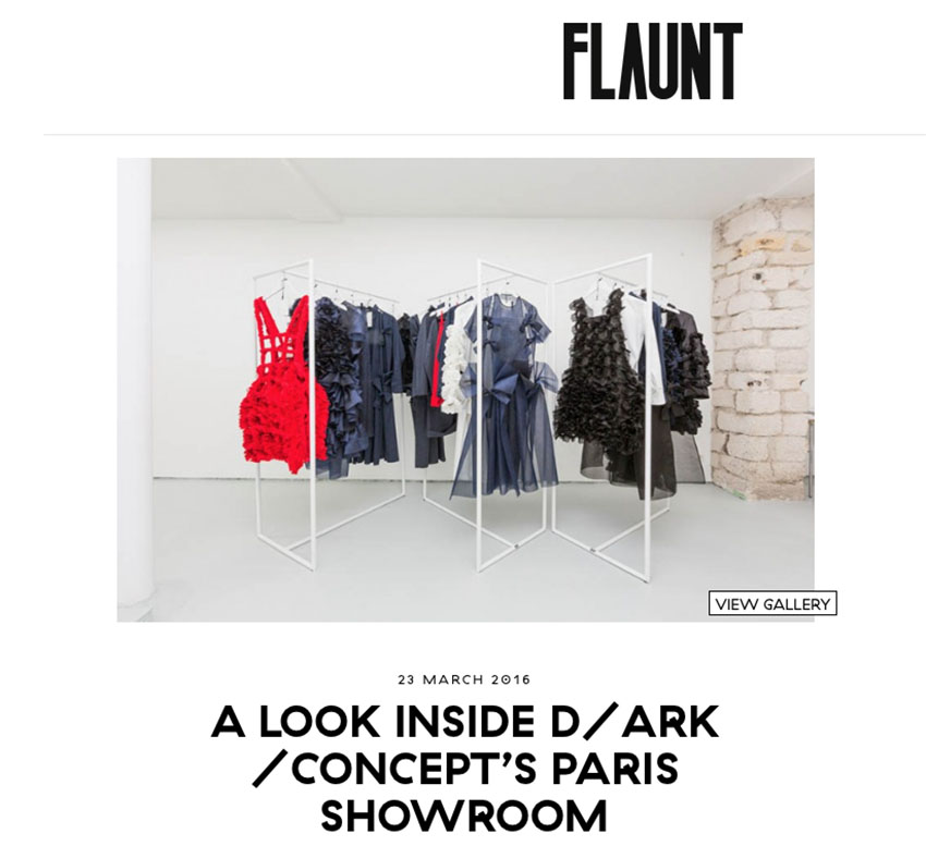 Flaunt D /ARK Paris Showroom