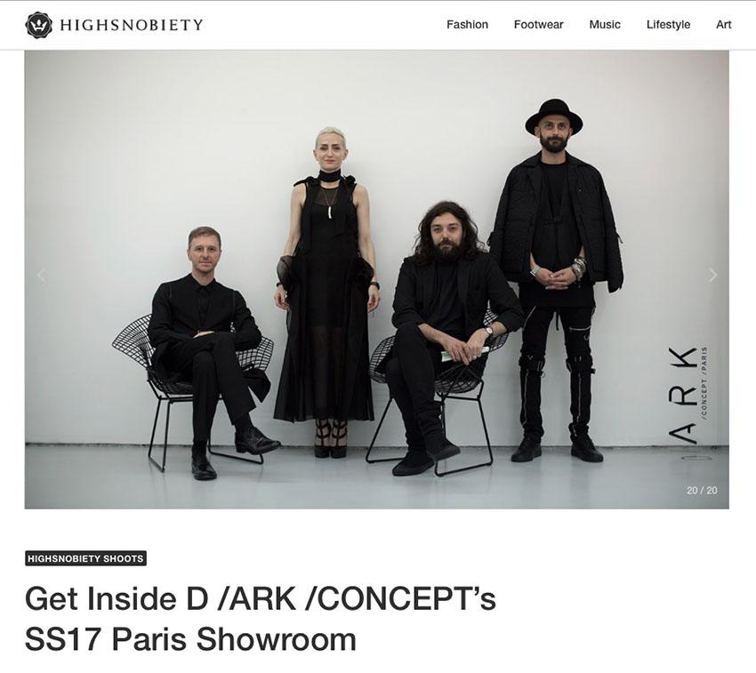 Highsnobiety D /ARK /CONCEPT Paris Showroom