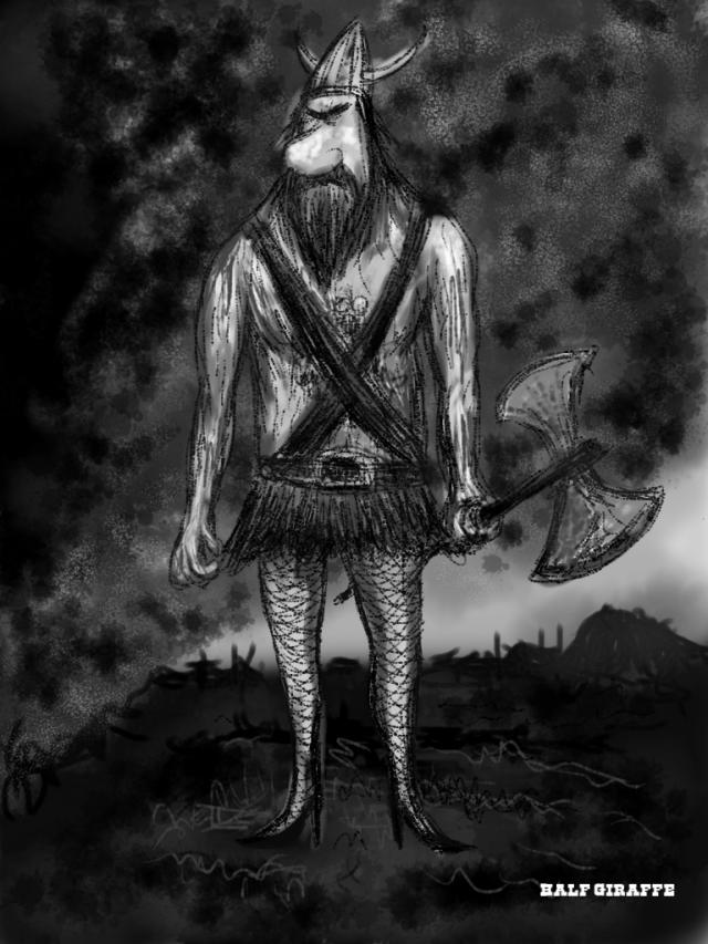 viking in fishnets