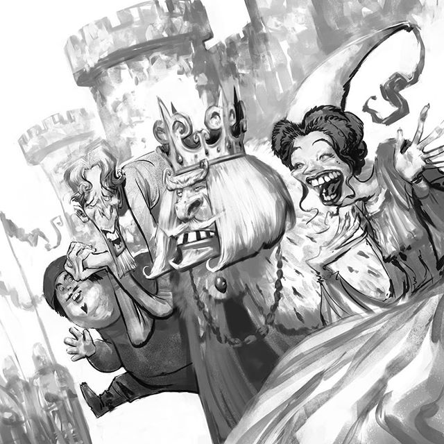 The Royal Sycophants #middlegrade #middlegradeillustration #kidlitart #kidlitillustration #childrensbooks #bookillustration #childrensbookillustration
