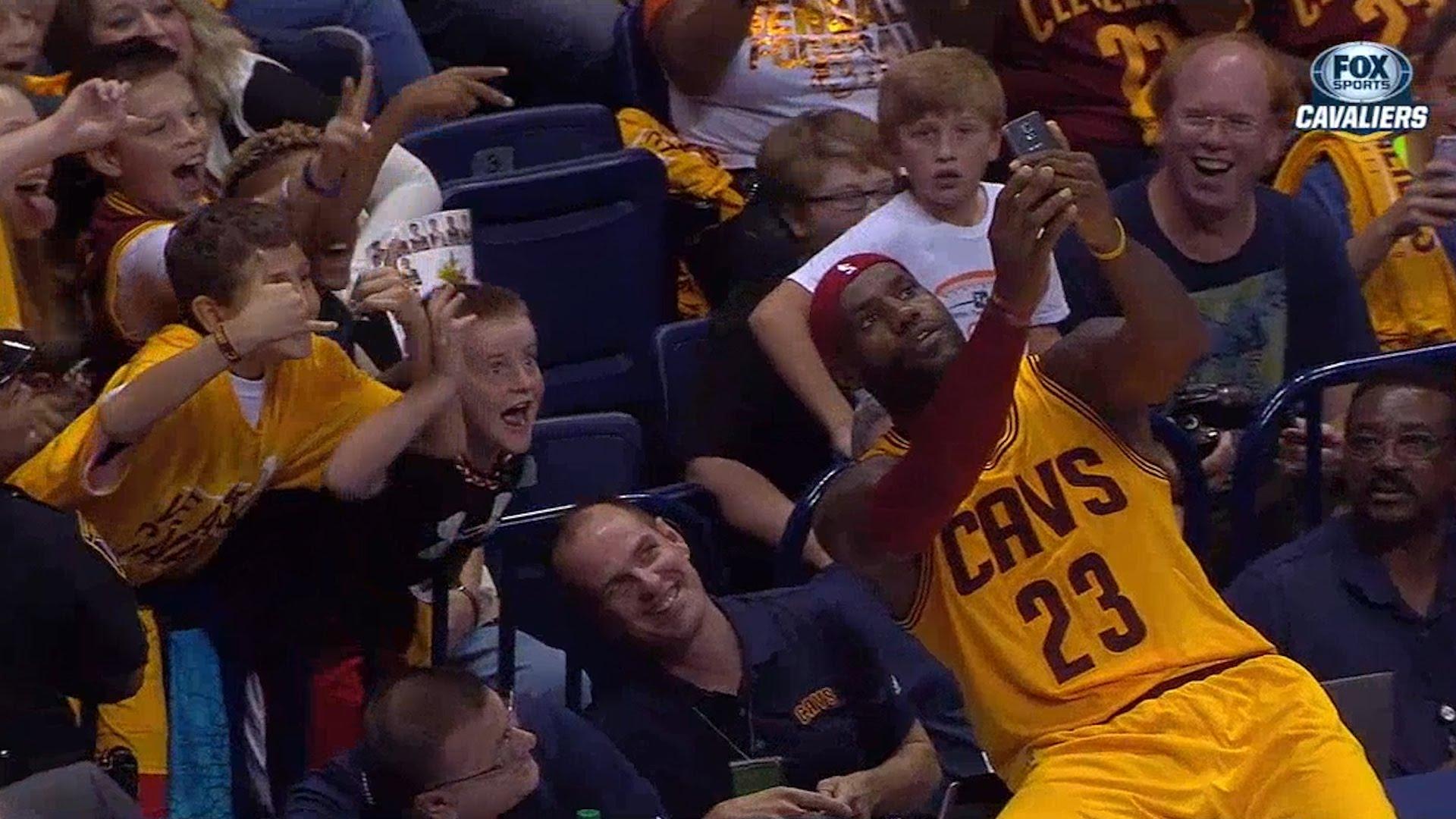 Lebron James takes selfie